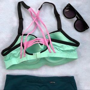 Victoria's Secret Intimates & Sleepwear - Victoria's Secret VSX Sports Bra Teal/Pink